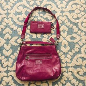 Coach Poppy Liquid Gloss Convertible Hobo Bag